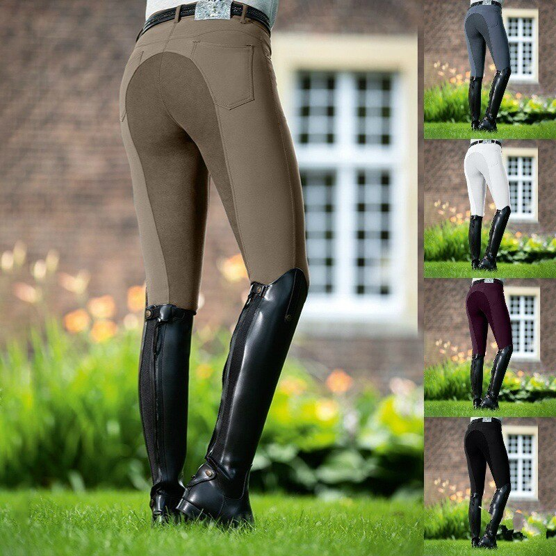 Riding Trouser For Women Breeches Skinny Horse Sport Pants Legging Slim Fit Pencil Tight Knee Patch