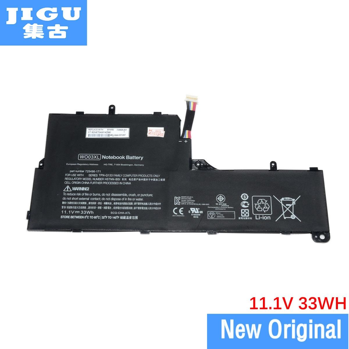 JIGU оригинальный ноутбук Батарея для hp 3ICP3/97/91 609881-131 725607-001 аккумулятор большой емкости HSTNN-1B1W WM06 WO03XL 725496-1B1 HSTNN-IB5i