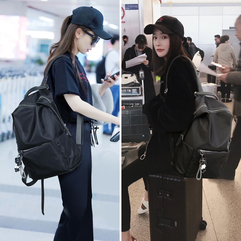 Stars with the new version of its 2021 backpack travel female han edition