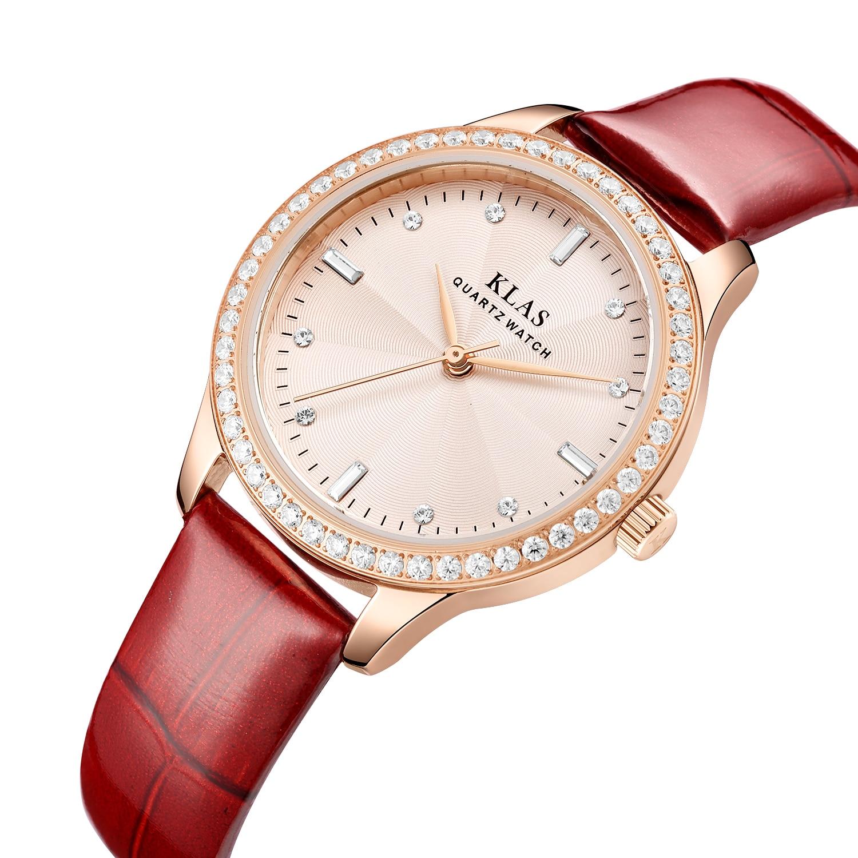 السيدات مشاهدة العلامة التجارية حاوية من الفولاذ المقاوم للصدأ مقاوم للماء ساعة مخصصة KLAS العلامة التجارية relogios femininos دي بولسو