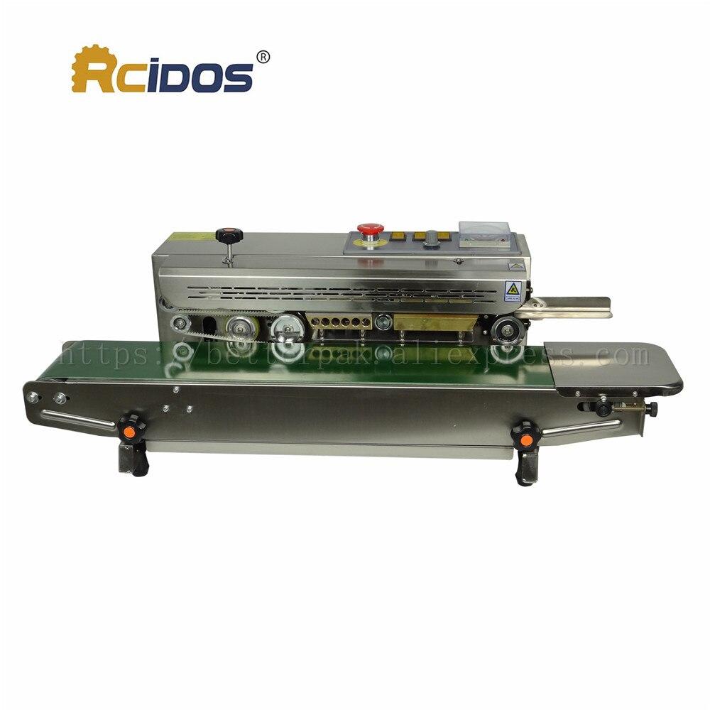 Machine continue résistante de cachetage de film de RCIDOS de FR-770, scellant de bande dacier inoxydable, (220V/50Hz)