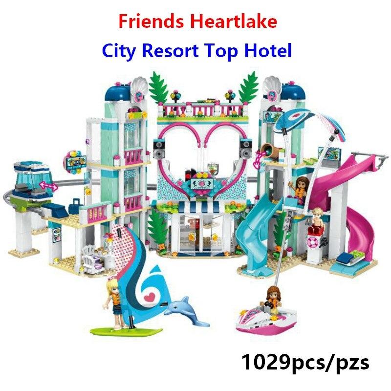 Nuevos amigos Heartlake City Resort Top Hotel kit de bloques de construcción para niños Compatible con lepining juego de Juguetes Divertidos para niñas