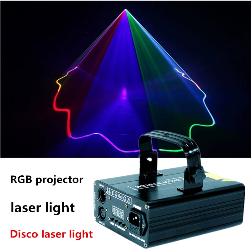 Disco Laser Light Stage Lights RGB Projector Stage Effect DMX512 Light for Dj Party Christmas Nightclub Dance Floor Carnival LED