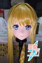 (RAIGEKI MAKS 76) résine Lolita crosscommode poupée BJD Cos Crossdress tête Kigurumi Anime Alice synthèse trente Cosplay masques
