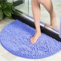 40x60cm soft carpet slip resistant bathing room rug floor door mat dirt barrier semi circle floor door cushion mat rug 2021