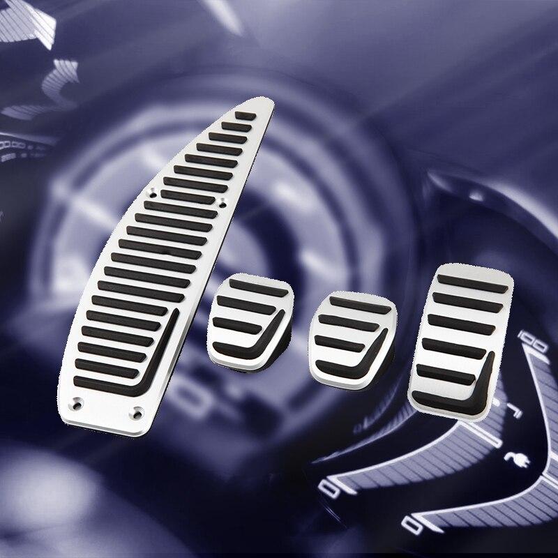 Reposapiés de embrague para coche, acelerador de Gas y freno, Almohadilla de Pedal para coche VOLVO S40 V40 C30 MT, accesorios de aleación de aluminio para coche