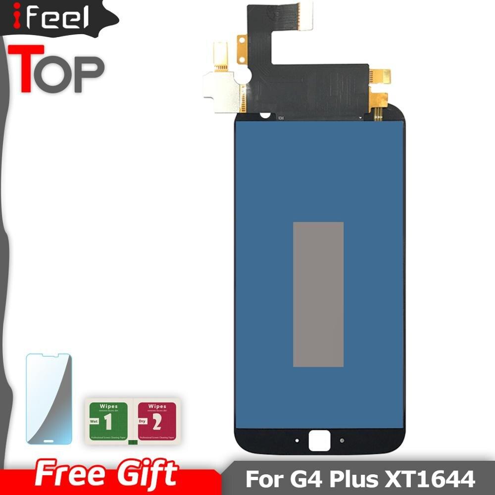 Pantalla de trabajo probada por 100% para Motorola Moto G4 Plus XT1644 XT1642 pantalla LCD MONTAJE DE digitalizador con pantalla táctil