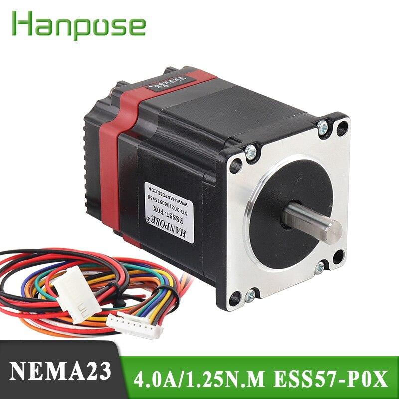 1 قطعة ESS57-P0X 1.8 درجة Nema23 محرك متدرج 4.0A 1.25N.m 57*56 مللي متر محرك محرك معزز المتكاملة آلة ل 3D طابعة CNC