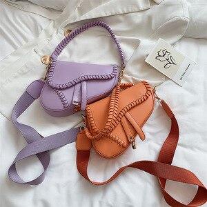 Vintage Female Bag Luxury Designer Saddle Bag Zipper Totes Handbags And Purses Bolsos Sac Femme Semi-circular Party Travel Bag