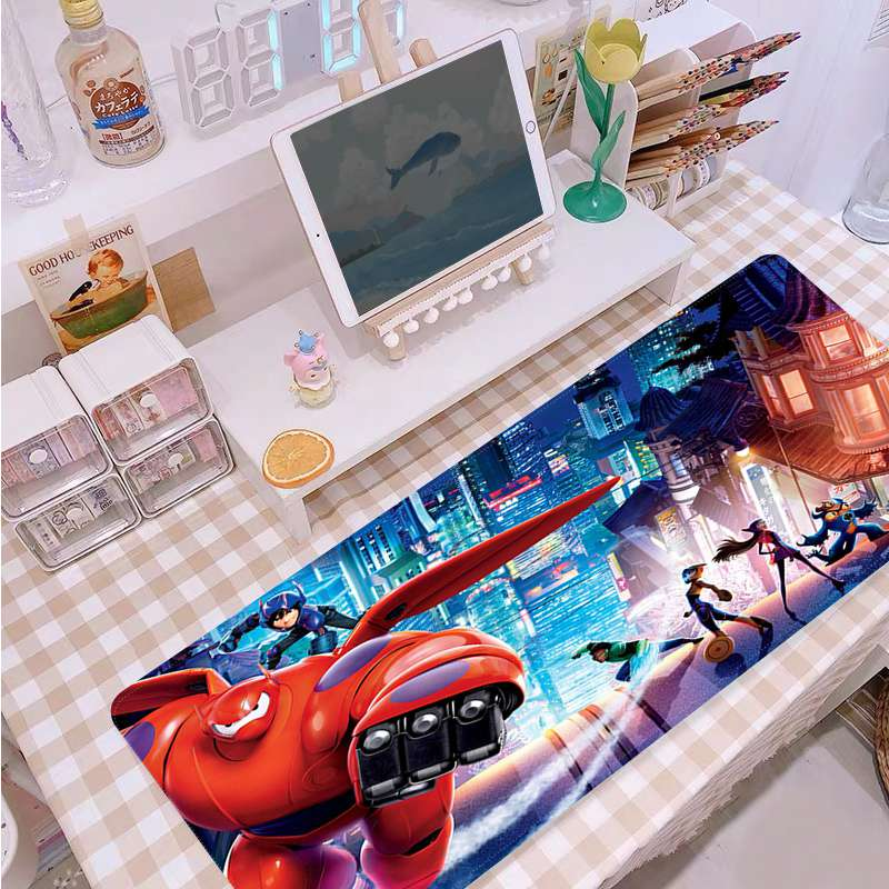 Disney Big Hero 6 My Favorite Large sizes DIY Custom Mouse pad mat Size for Mouse Keyboards Mat Mousepad for boyfriend Gift
