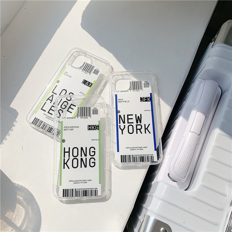 Nueva funda de teléfono Air Ticket para 11 Pro Max XS MAX XR, funda transparente suave de TPU para iPhone 6 6s 7 8 Plus