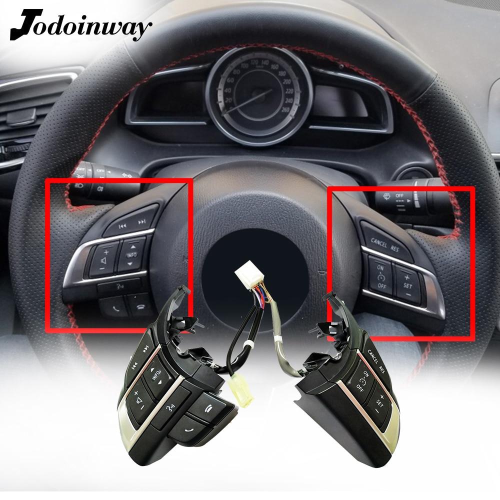 Estilo do carro bluetooth interruptor de cruzeiro multimídia botão controle remoto áudio para mazda 3 atenza axela cx5 CX-4 CX-5
