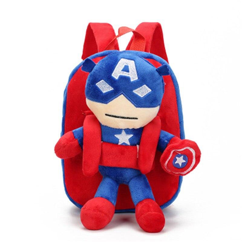 Superhero Spider Man Kids School Bags for Children Backpacks Captain American SchoolBag Baby Boys Small Backpack Bag