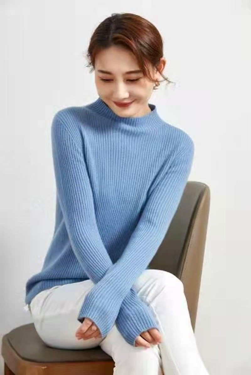Sanofi 100% Cashmere Sweater Women Autumn Winter Soft Natural Wool Goat Warm Knitted Pullover Tops Sweater enlarge