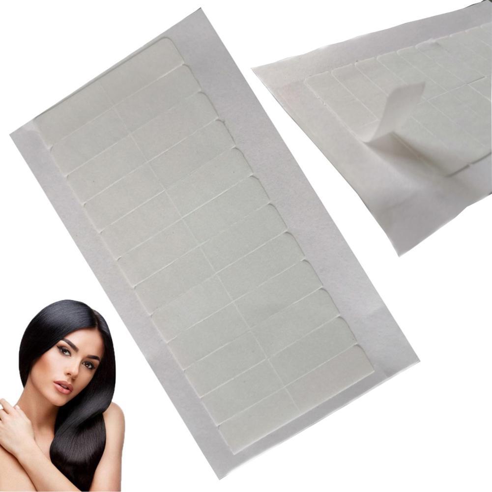 Extensión de pelo de doble cara gráfico pegamento adhesivo Peluca de encaje cinta adhesiva impermeable de larga duración doble cinturón gráfico peluca pegatina