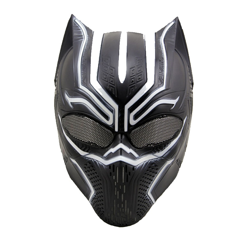 Tactical Black Panther Paintball Mask Military Wargame Protection Airsoft Accessories Cosplay Halloween Party Full Face Masks недорого