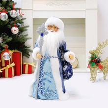 Musical Santa Claus Snow Maiden Dancing Dolls Electric Plush Toys Gift for Kid Christmas Ornaments D