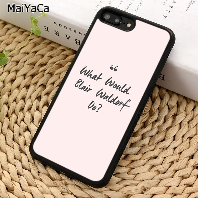 Дизайнерский чехол для телефона MaiYaCa Blair Waldorf gossip girl для iPhone 5 6S 7 8 plus 11 Pro X XR XS Max Samsung Galaxy S7 S8 S9 S10