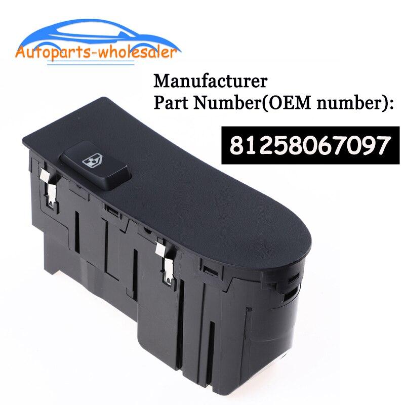 Nuevo 81258067097 Para MAN TGA TGX lado derecho del pasajero interruptor principal de control de ventanilla accesorios para coche