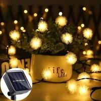 festoon led string lights christmas decoration for home 20100led dandelion solar led light outdoor garland wedding fairy lights