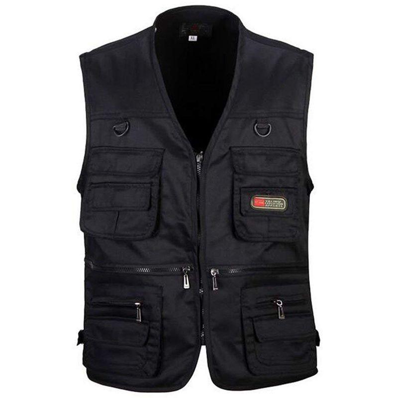 Мужской жилет для рыбалки с несколькими карманами на молнии для фотосъемки/охоты/путешествий, спорта на открытом воздухе, спортивная куртка