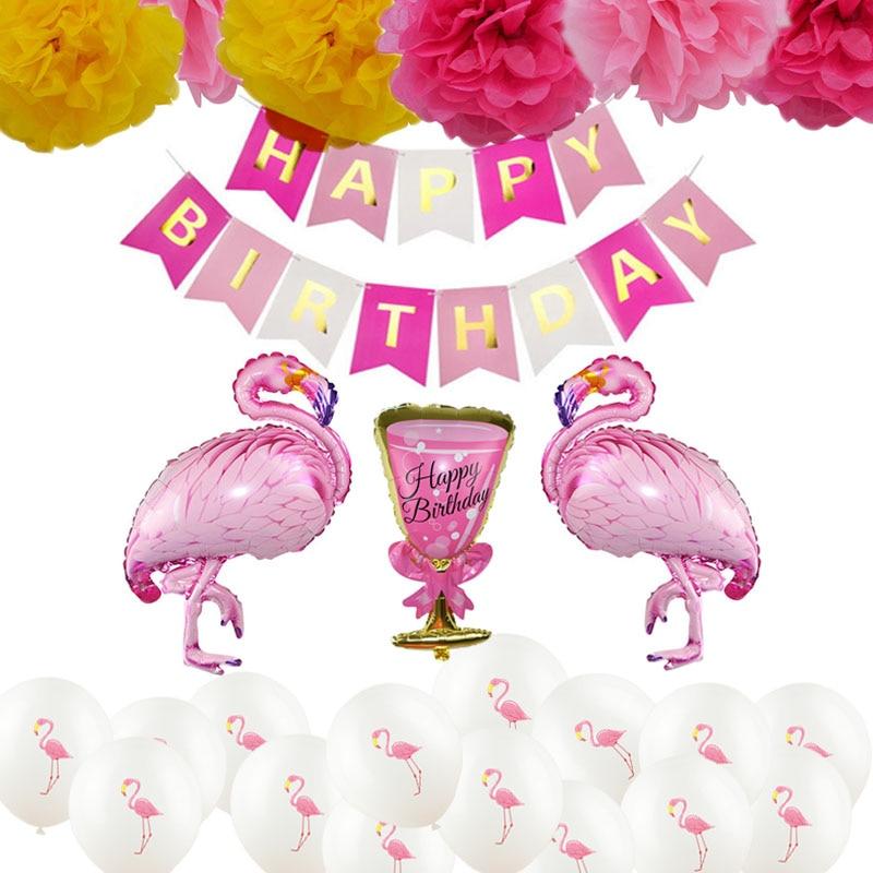 Летняя Вечеринка Luau Delice баннер из фигурок Фламинго торт Топпер детский душ ананас Гавайи день рождения Гавайская Свадьба тропический деко