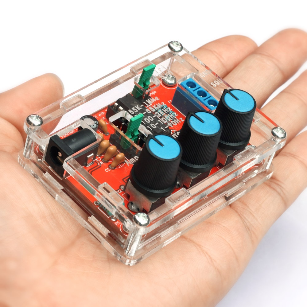 XR2206 Funktion Signal Generator DIY Kit Sinus/Dreieck/Quadrat Ausgang 1Hz-1MHz Signal Generator Einstellbar frequenz Schwarz
