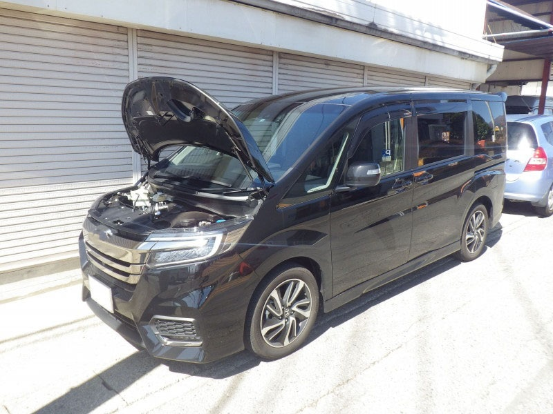 for 2015- Honda Step wgn RP3 Mini Van Front Bonnet Hood Modify Gas Struts Carbon Fiber Spring Damper Lift Support Absorber