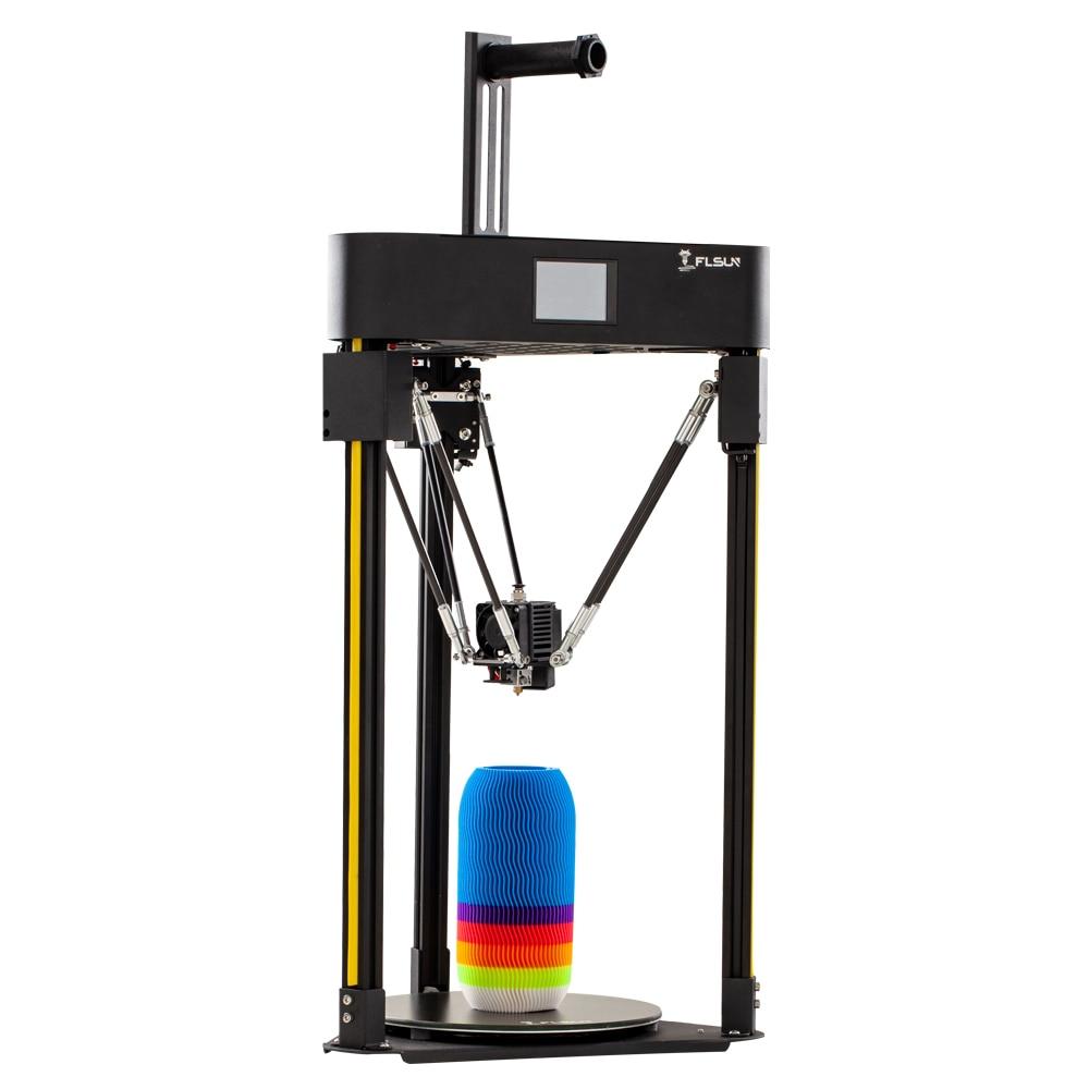 Imprimante 3D Flsun Q5 Delta capteur de niveau automatique pré-assemblage TFT 32bits Kossel complet métal Titan reprendre TMC 2208 impression 3d