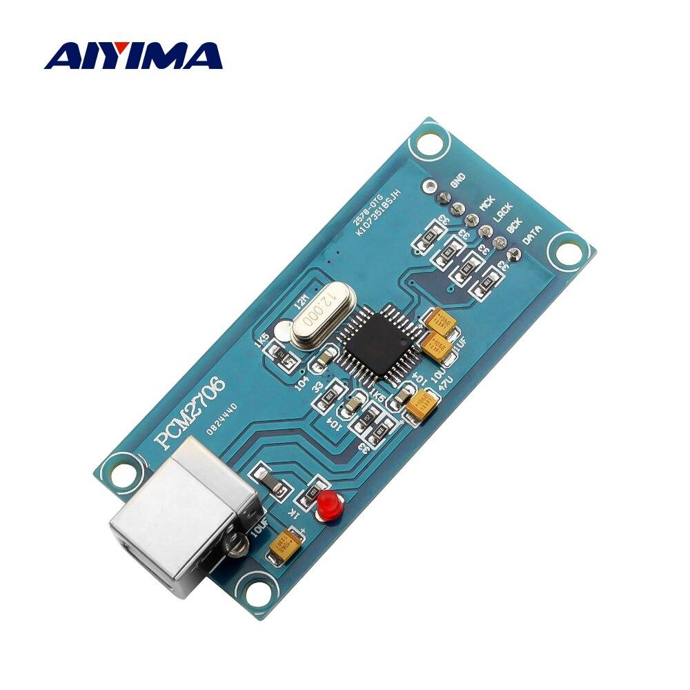 AIYIMA Audio PCM2706 USB To I2S Digital Interface Decoder DAC Module Decoding OTG DIY Speaker Amplifier Home Theater