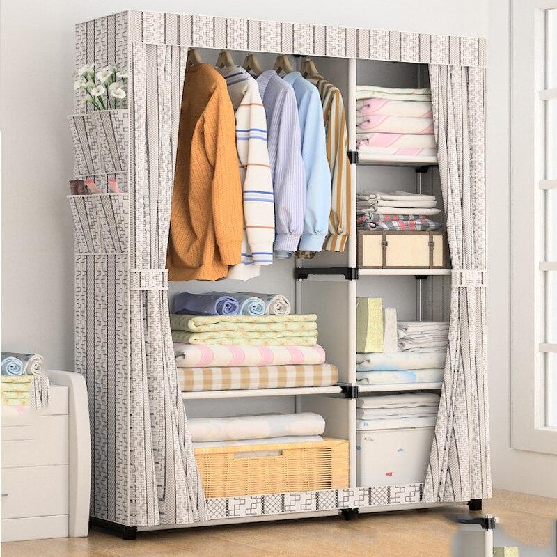 تسليم عادي DIY بها بنفسك غير المنسوجة أضعاف أثاث تخزين المحمولة عندما الربع خزانة خزانة خزانة أثاث غرف النوم