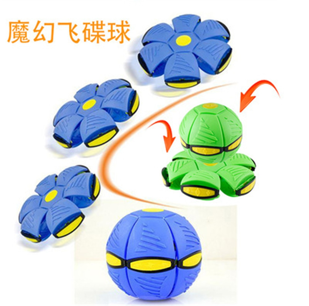 Flying UFO Flat Throw Disc Ball Toy Kid Outdoor Garden Football Game Magic Deformation Funny Training Toys