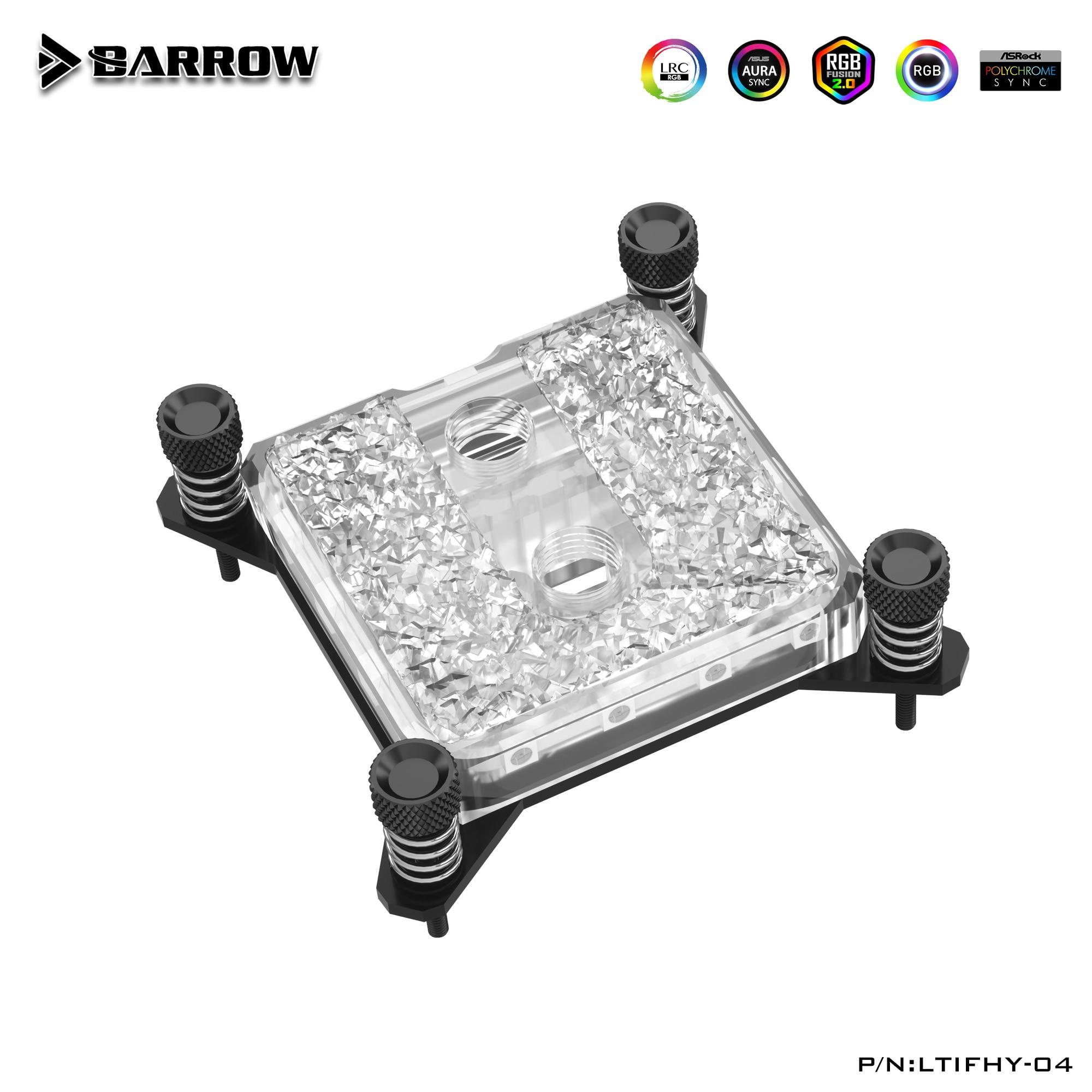 بارو إنتل وحدة المعالجة المركزية كتلة المياه استخدام ل إنتل المقبس LGA-115X(1150 1151 1155 1156 ) LTIFH-04 الاكريليك/كامل النحاس/A-RGB 3PIN 5 فولت