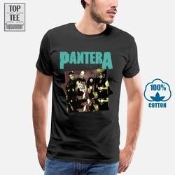Moda verão t camisa pantera hostil banda imagem dimebag t camisa de algodão masculino engraçado t camisa