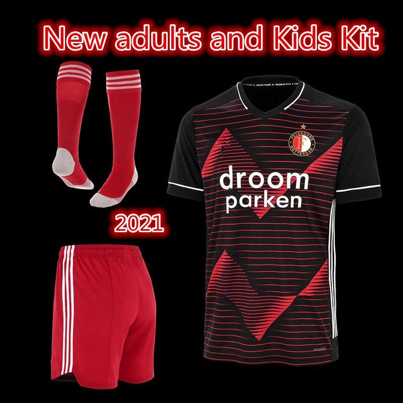 new 2020-21 boys kit Adult kit home Away Feyenoord soccer jerseys  V.PERSIE JORGENSEN Berghuis VILHENA kids kit football shirt