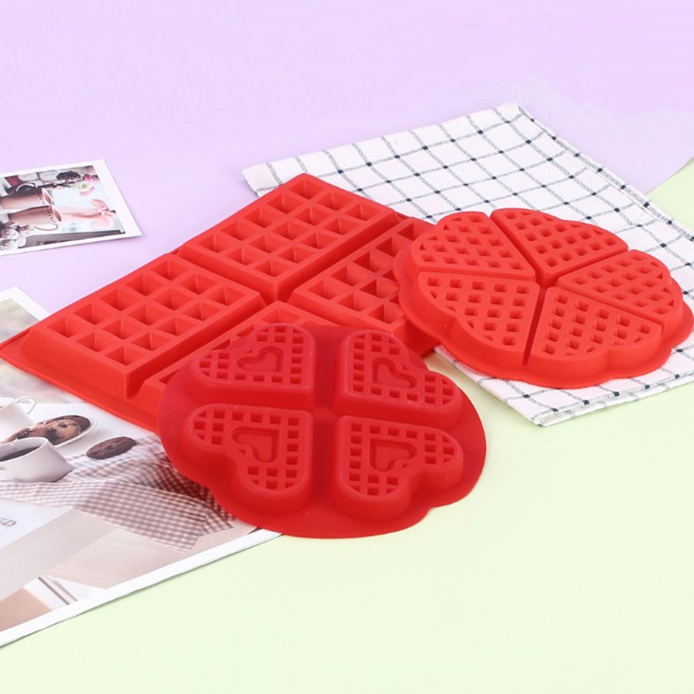 1PC Cake Mold Waffle Maker Oven Waffles Mold Tray Silicone Mould Pan Cookies Bakeware DIY Craft Donuts Maker Kitchen Tool  - buy with discount