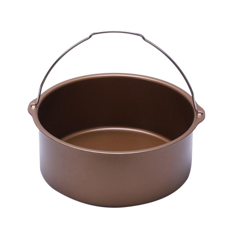 ABRA-1pcs Air Fryer  Non-Stick Baking Barrel Cake Pan-Power Air Fryer Baking Barrel