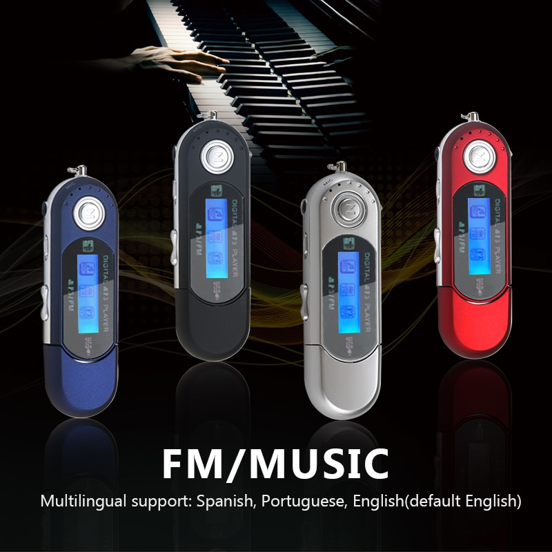 Portable Mini USB Flash LCD Digital MP3 Player Support Flash 32GB TF Card Slot Music Player FM Radio