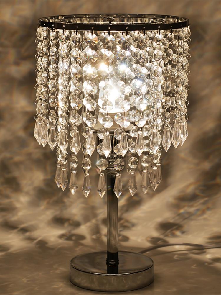 Lampara de mesa decorativa de cristal europeo de alta calidad lampara de...
