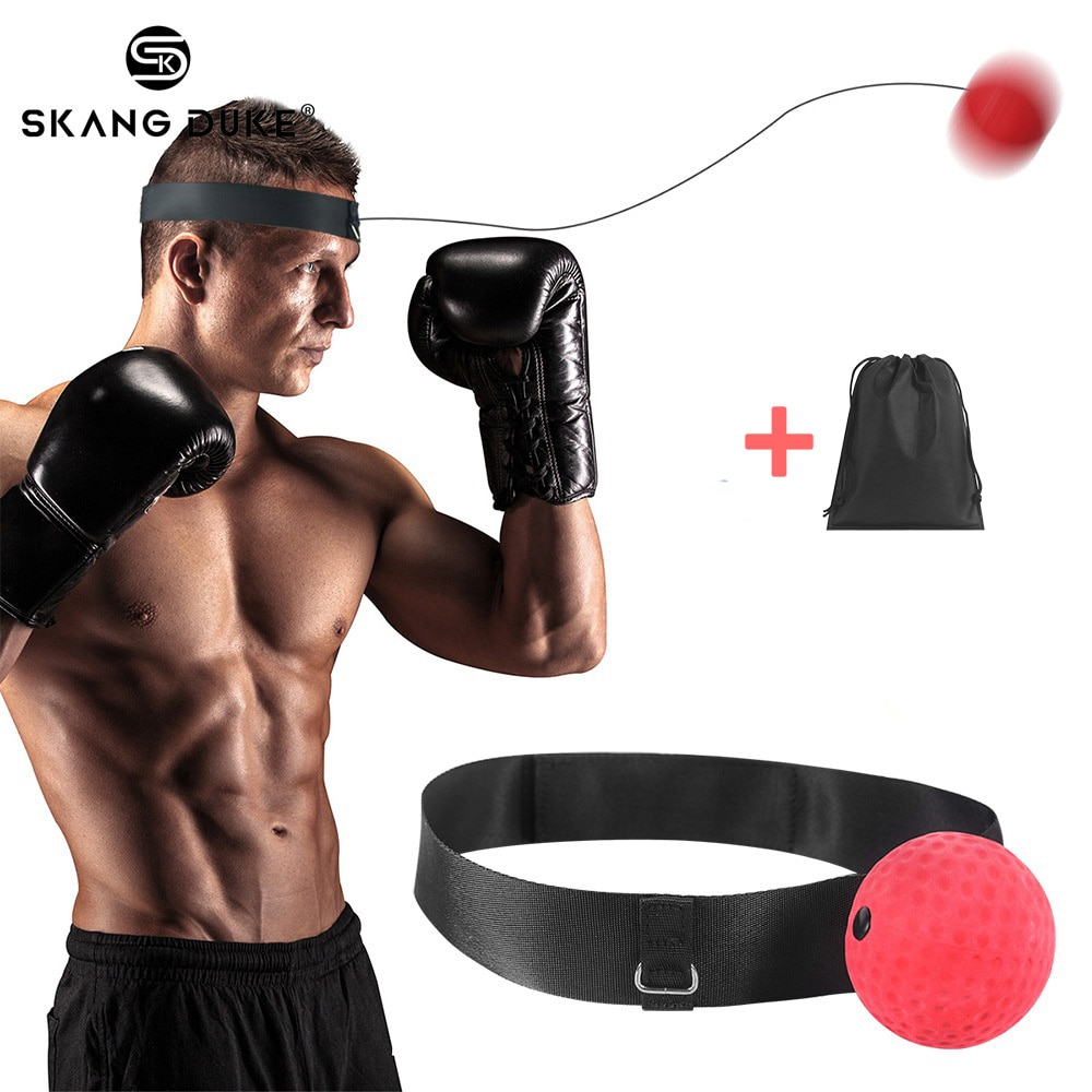fight ball lomachenko punching ball boxing equipment training apparatus muay thai boxing trainer accessories speed fast ball gym Boxing Reflex Ball Fight Ball Punching Speed Ball for Boxing Training Gym Exercise Coordination With Headband Improve Reaction
