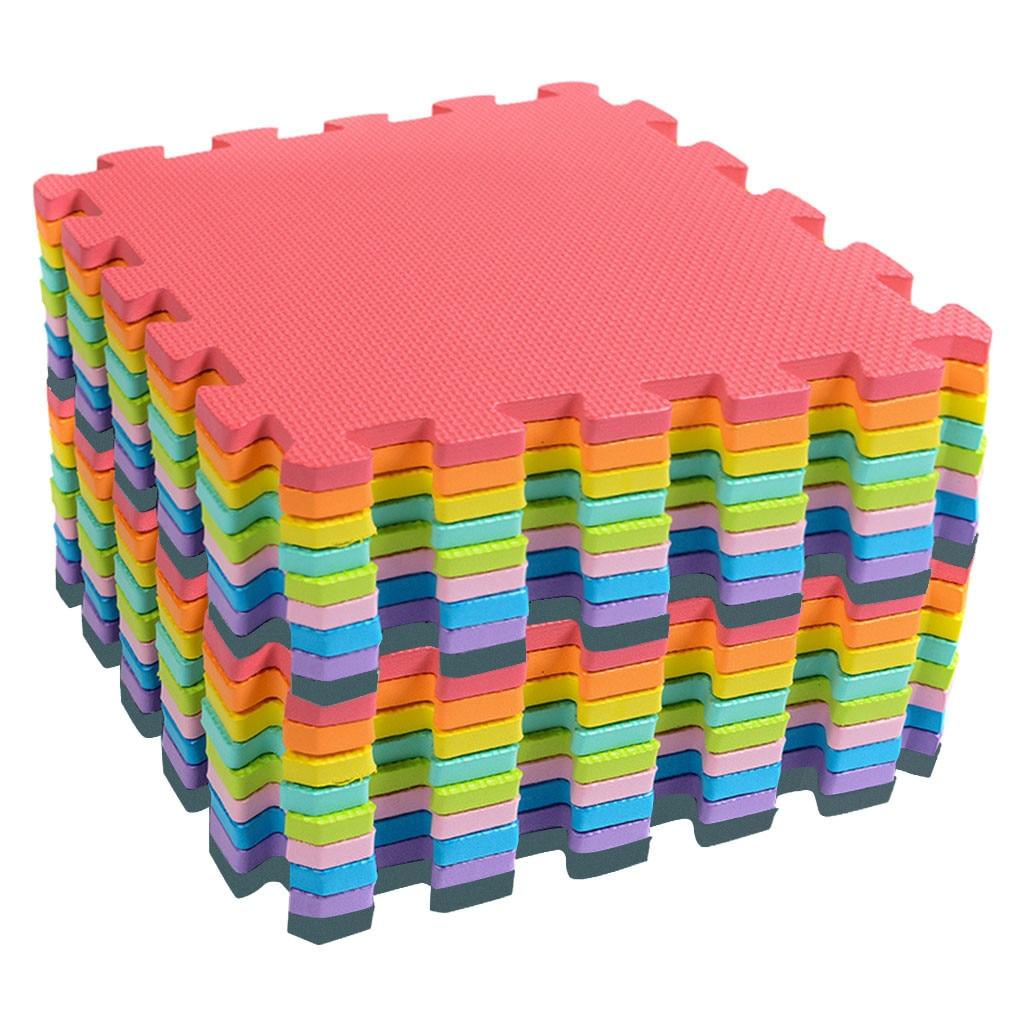 18 piezas de rompecabezas juguetes para niños alfombra de tatami de rompecabezas de moda para niños alfombra de juego Multi-Color estera de rompecabezas suelo de espuma @ 30