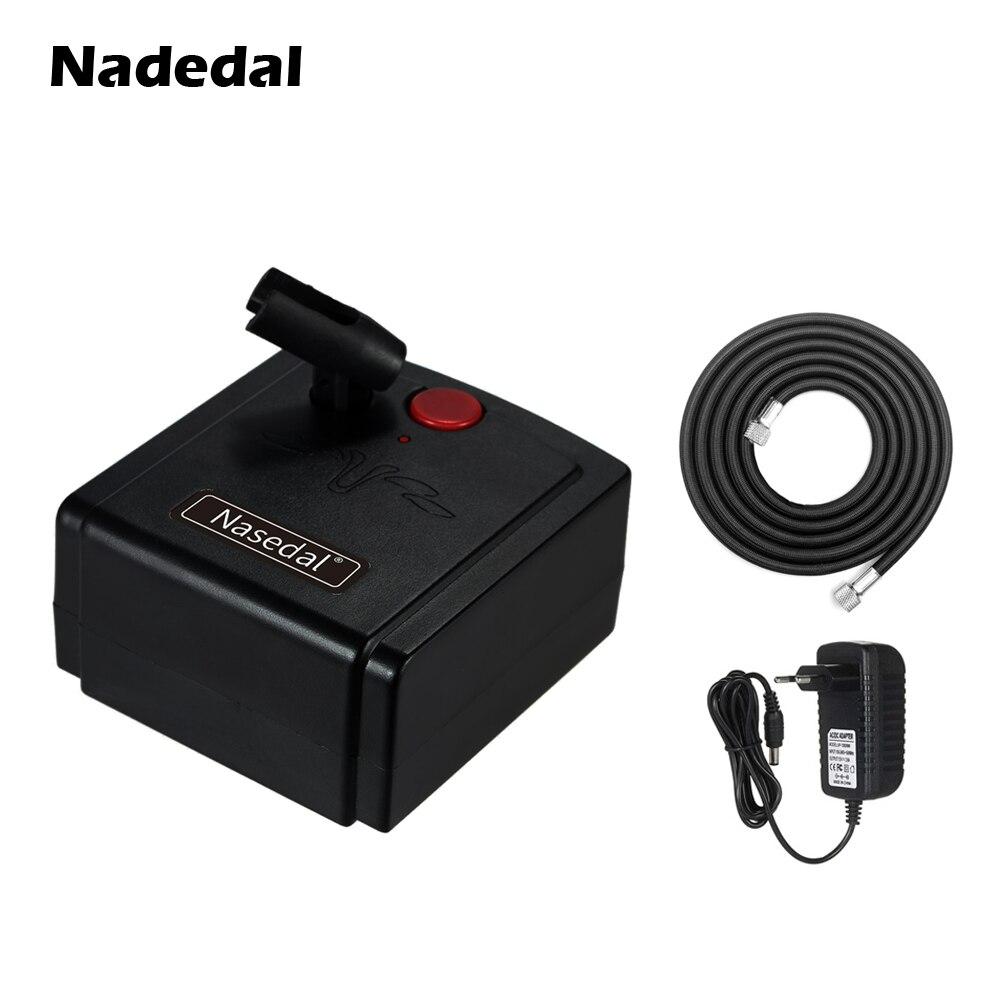 Nasedal compresor de aerógrafo soporte de aerógrafo para maquillaje de uñas tatuaje modelo pastel pintura de coche (sin aerógrafo pistola rociadora)