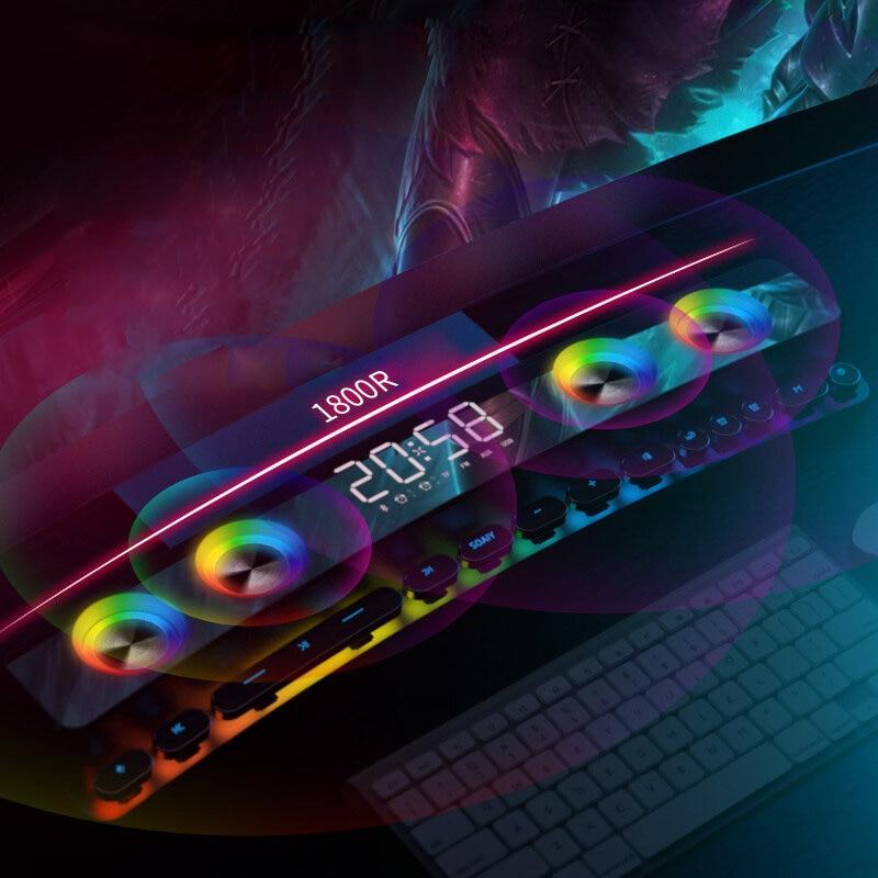 SH39 bluetooth 5.0 Electronic Sports Speaker Colorful Laser Light HIFI Sound Quality Desktop Audio Subwoofer Dual Speakers enlarge