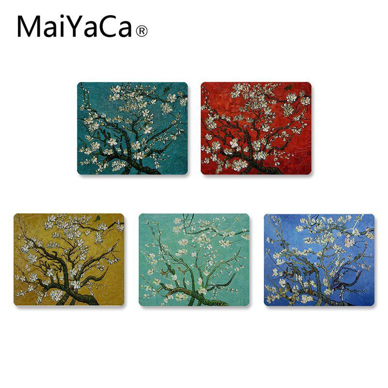 MaiYaCa Van Gogh Niederlassungen Eines Mandelbaum In Blüte Maus Pad Laptop Computer PC gaming maus matte mouse pad gamer schreibtisch matte