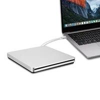 Ultra-dunne Klassischen Design Typ-C Slot in Externe CD DVD Brenner DVD-RW Stecker und Spielen USB C CD Sticks fur Macbook Pro Dell XPS