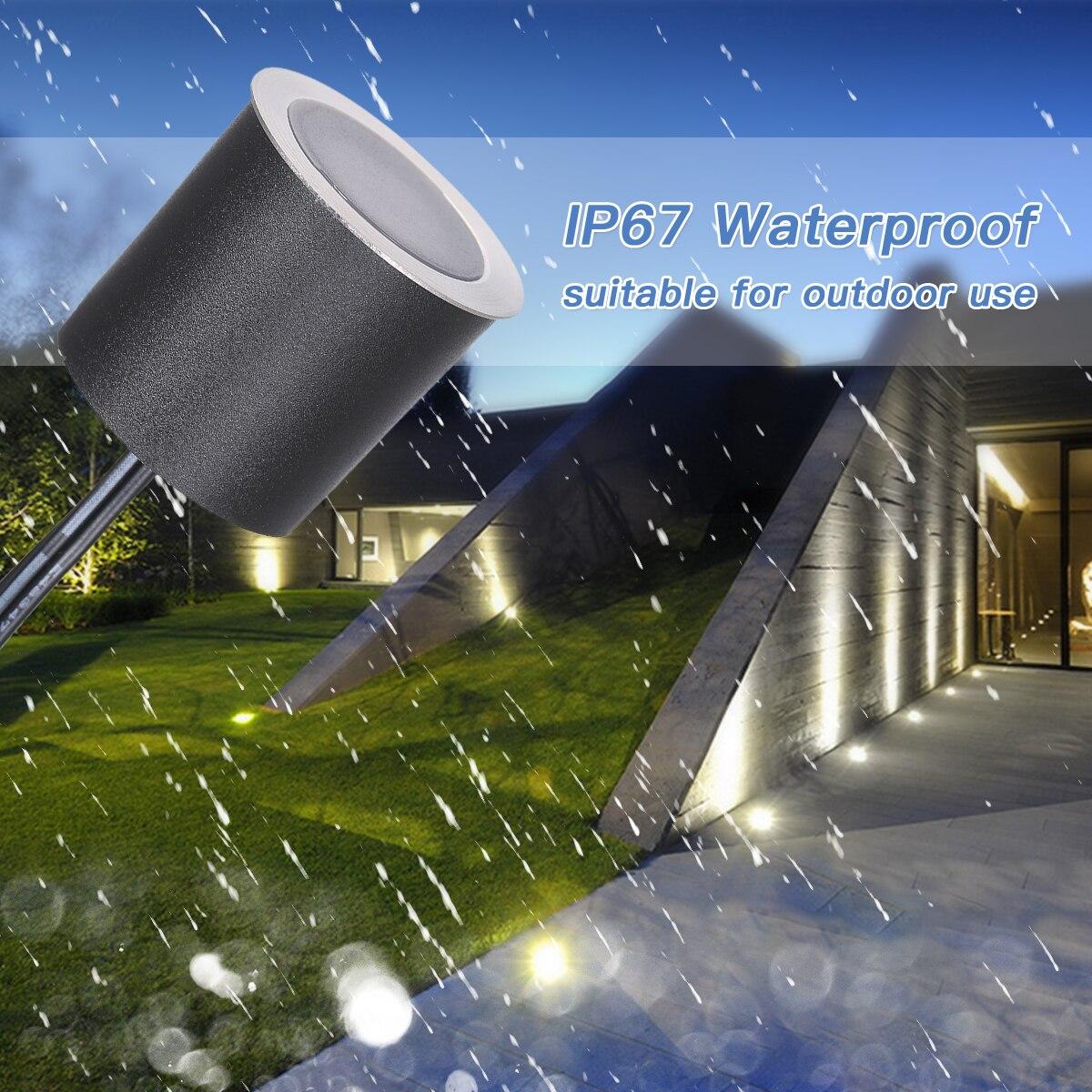 Luces LED empotradas DC12V IP67, lampara impermeable para exteriores, luz de paisaje para Patio, camino de jardin, escaleras enlarge