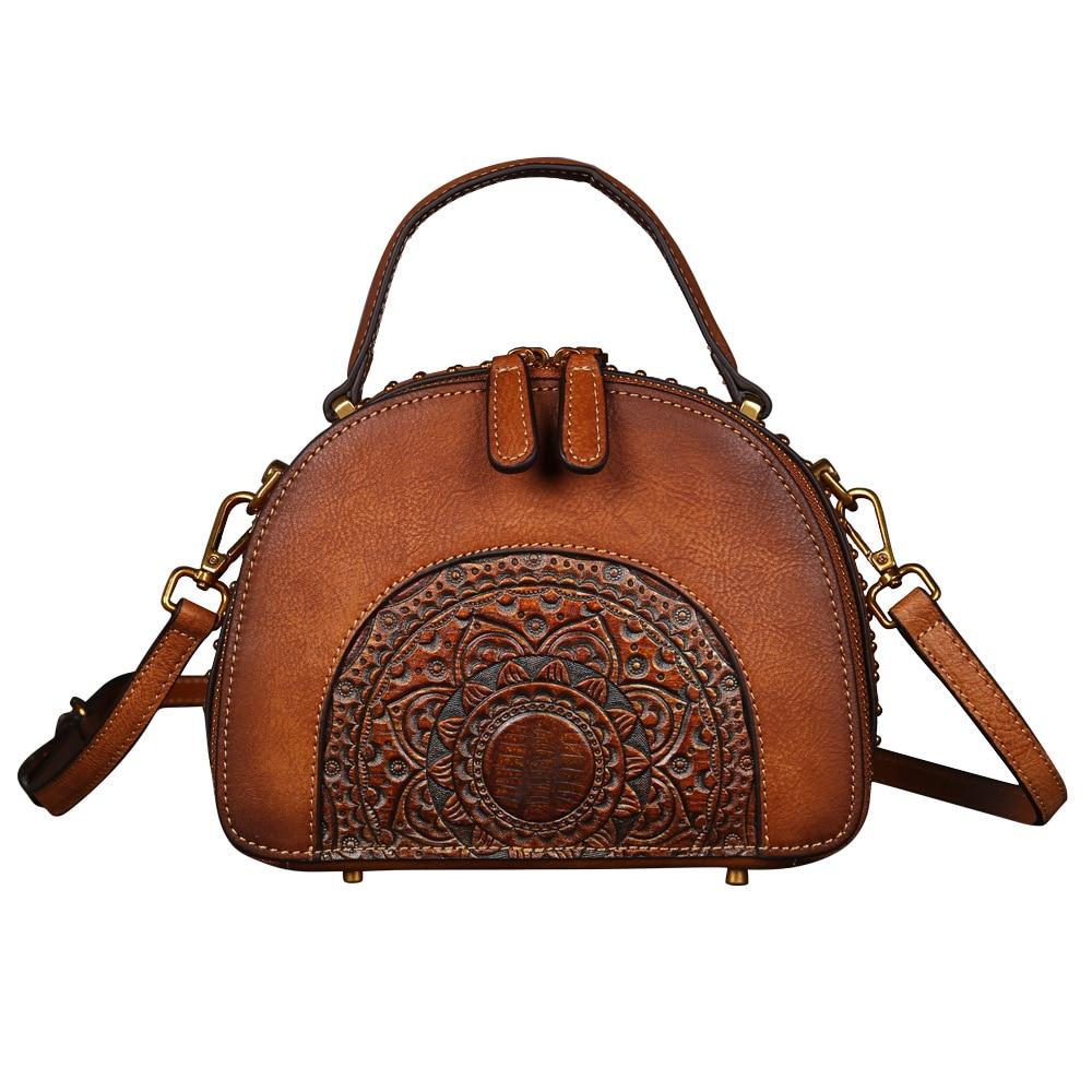2020 Women's Handbag Genuine Leather Women's Shoulder Bag Multi-functional First Layer Cowhide Handbags Classical Diagonal Bag