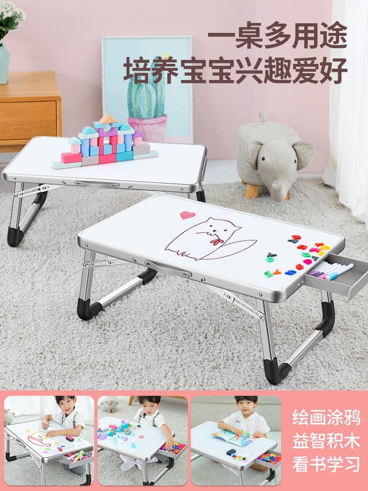 На кровати маленький стол искусственная доска для рисования магнитная доска для рисования детский стол для рисования граффити учебный сто...