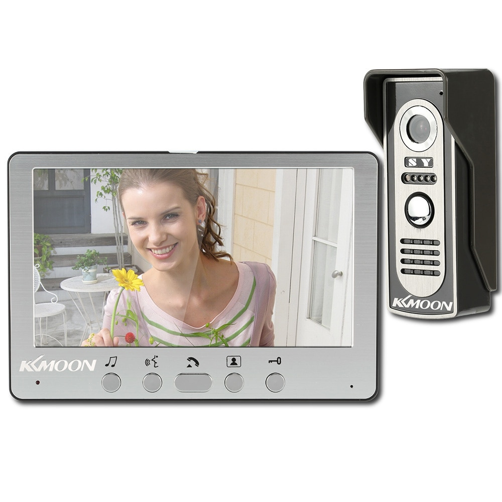 KKmoon Визуальный Домофон Дверь видео домофон 7 ''Wired Система Видео-Телефон Двери TFT LCD Монитор Крытый ТВЛ Открытый ИК-Камера, Поддержка Unlock видеодомофон