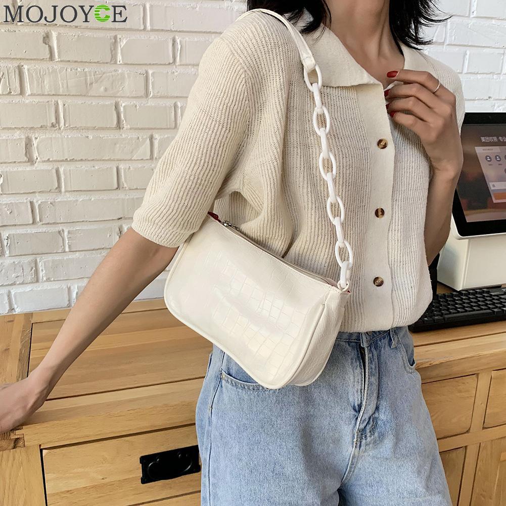 Bolsa de mão de couro para mulheres, feminina, clássica, com estampa, elegante, bolsa de ombro, vintage, mala